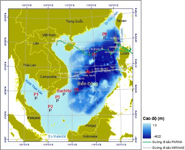 Kiểm nghiệm việc sử dụng mô hình MIKE 21 SW FM mô phỏng chế độ sóng biển đông