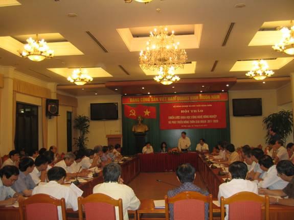 Hội thảo Chiến lược khoa học, công nghệ Nông nghiệp và Phát triển nông thôn giai đoạn 2011-2020