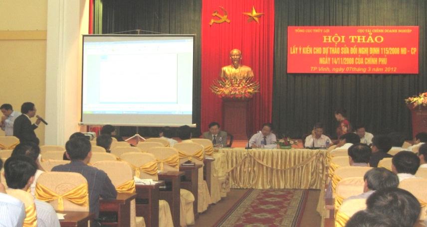 Hội thảo lấy ý kiến sửa đổi Nghị định 115/2008/NĐ-CP ngày 14/11/2008 của Chính Phủ về miễn thủy lợi phí cho sản xuất nông nghiệp